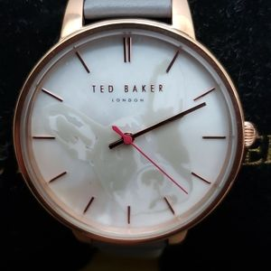 NWTB Ted Baker gray leather watch with dog